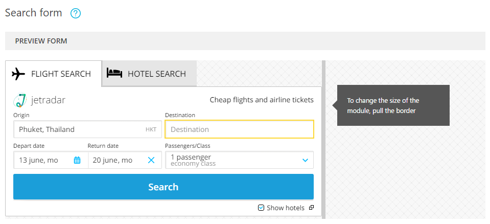 travelpayouts_search_form