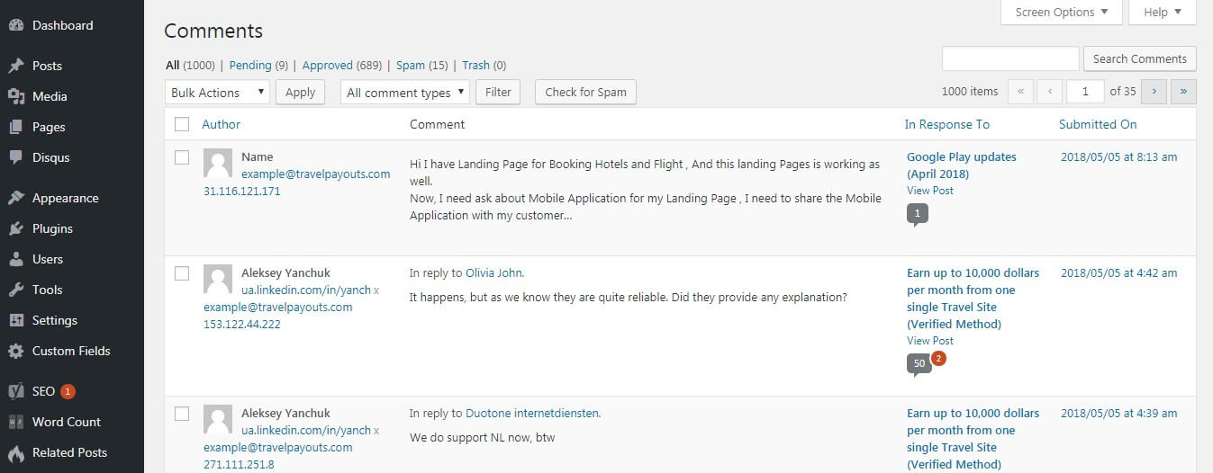 The WordPress Built-In Commenting System