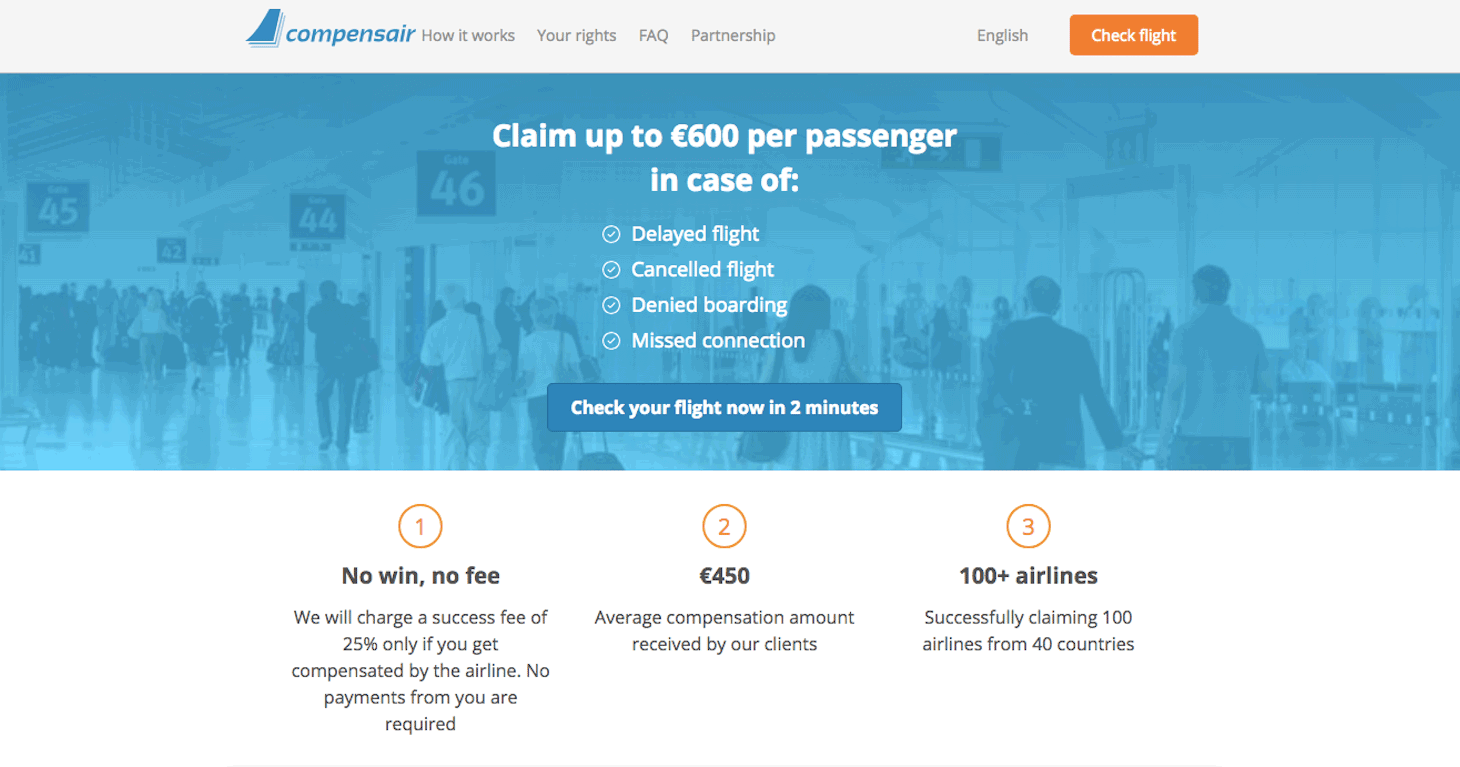 Compensair — earn on flight delays and cancellations