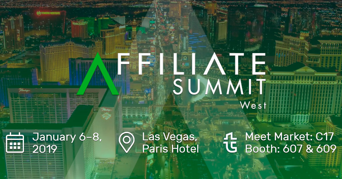 We are going to Affiliate Summit West 2019 in Las Vegas