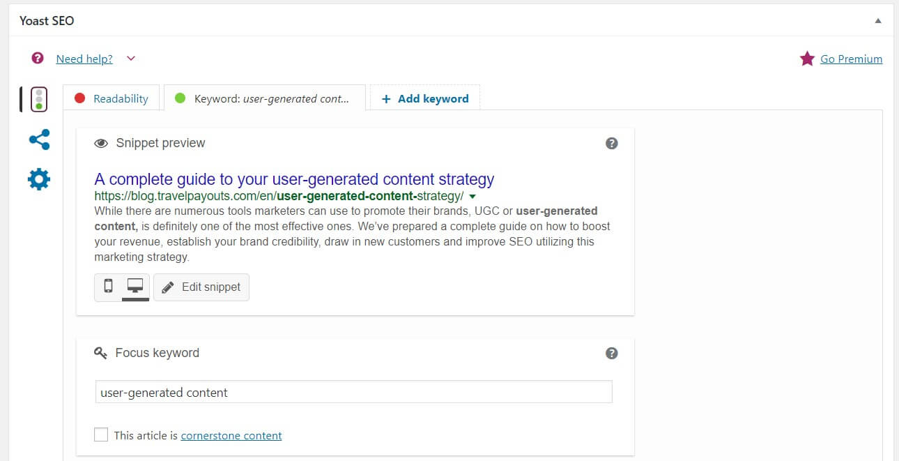 Optimizing SEO for your articles