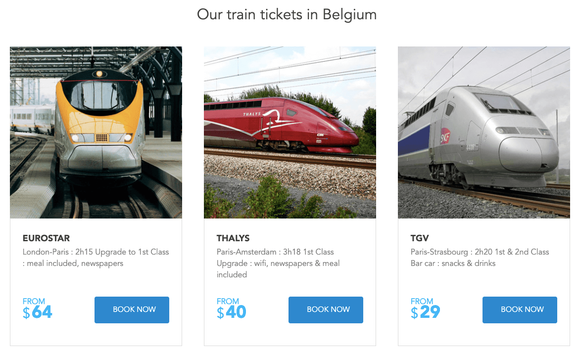 rail europe destinations