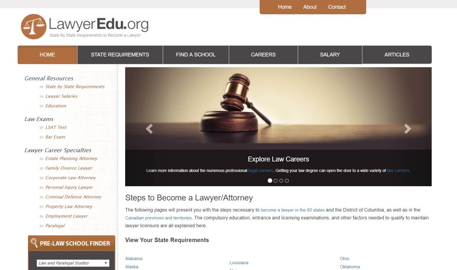 Law career: LawyerEdu.org