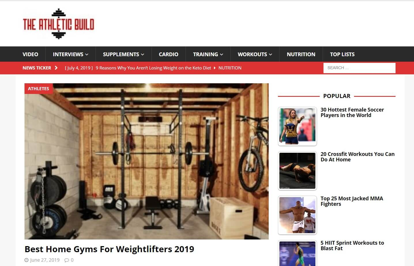 Fitness: The Athletic Build.com