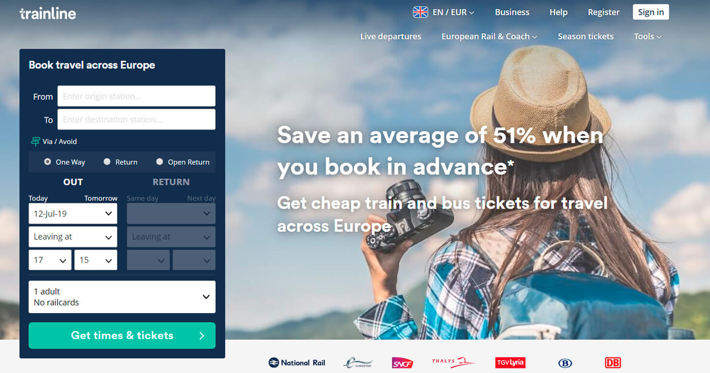 Earn with Trainline, the train and bus tickets aggregator in Europe