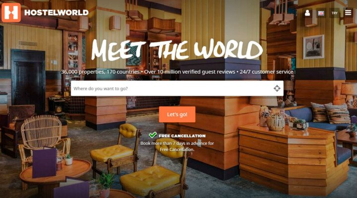 Earn with Hostelworld, the hostel booking service with global coverage