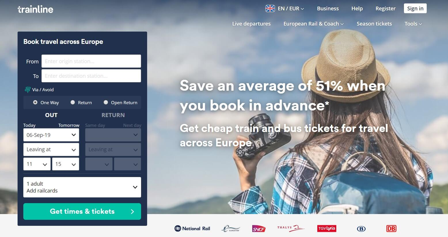 Trainline affiliate program