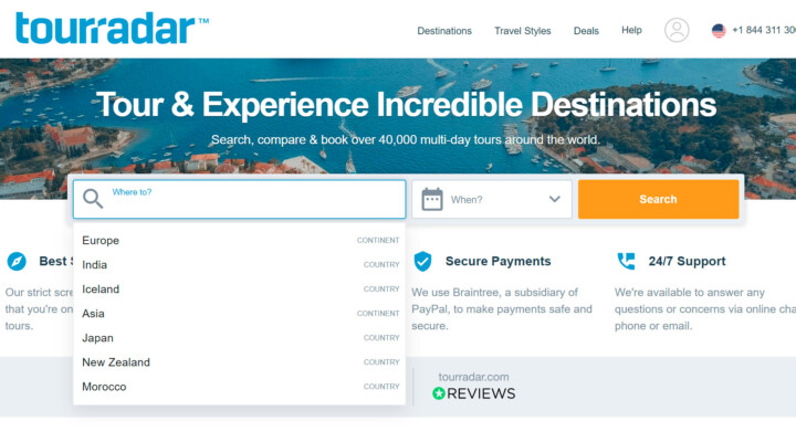 Earn on multi-day tours with the TourRadar affiliate program
